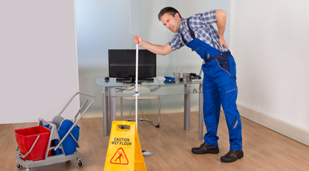 Prevent Workplace Injury With Proper Mopping Technique, Tools