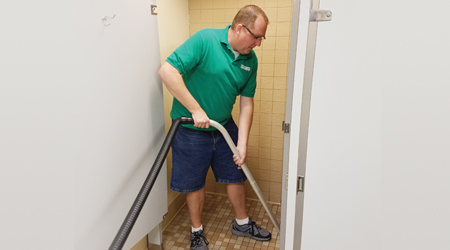 Clean Deeper, Faster With Touchless Restroom Cleaning