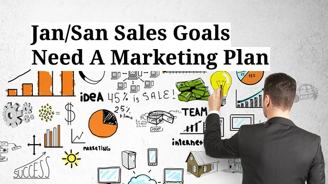 Jan/San Sales Goals Need A Marketing Plan