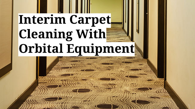 Interim Carpet Cleaning With Orbital Equipment