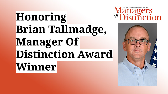 Honoring Brian Tallmadge, Manager Of Distinction Award Winner