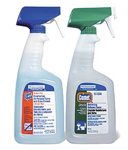 Delightful Learn About: Spic And Span Disinfecting All Purpose Spray And Glass Cleaner  And Comet Disinfecting Bathroom Cleaner From Procter U0026 Gamble Professional