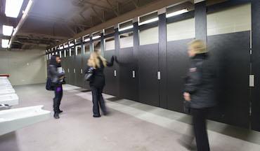 case study restroom renovation scores big at chicago white sox u s cellular field. Black Bedroom Furniture Sets. Home Design Ideas