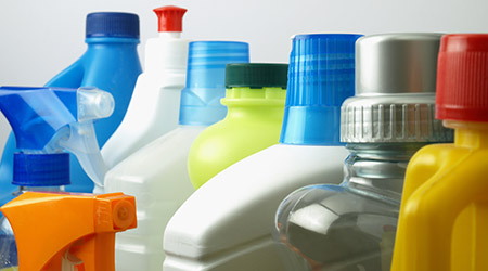 Chemicals, Cleaning containers
