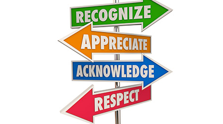 Recognize Appreciation Acknowledge Respect Signs