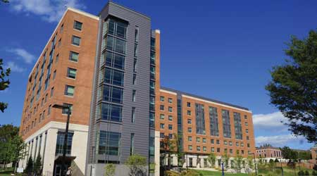 Prince Frederick Hall is a LEED-Gold certified residence facility that opened in fall 2014.
