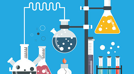 Laboratory equipment banner