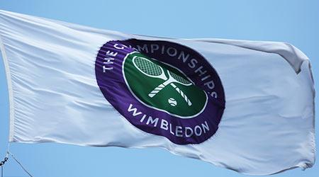 Wimbledon championship flag
