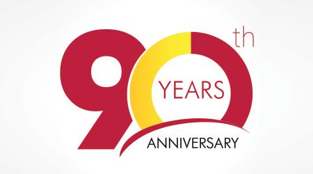 90 years old celebrating classic logo