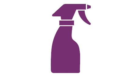 cleaning chemical spray bottle