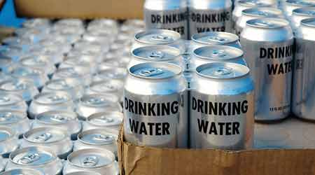 canned drinking water for emergency use