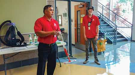 Ricky Martinez shared cleaning success and top training tips with facility cleaning managers at a recent event