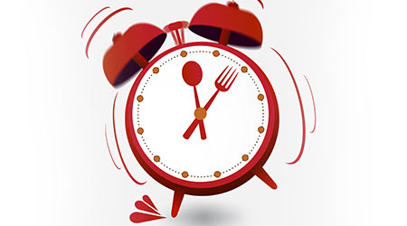 "Concept of Business Concept with "" Lunch Time"" on alarm clock"