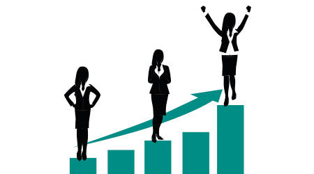 growth concept women being promoted in job