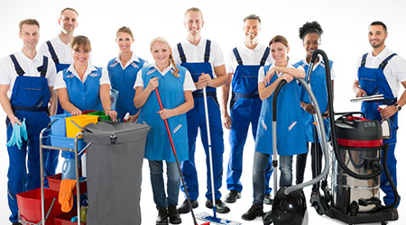 Photo of cleaning crew