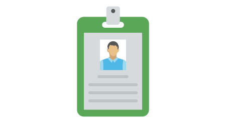 An employment letter attach in a clipboard flat icon
