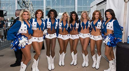 World Famous Dallas Cowboy Cheerleaders Outside AT&T Stadium