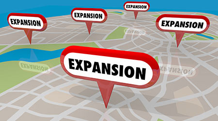 Expansion New Locations Map Pins Opening