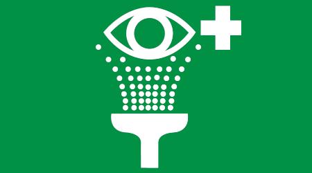 Eye shower sign