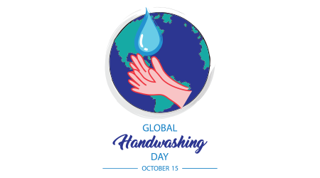 Global Handwashing Day concept, 15 October