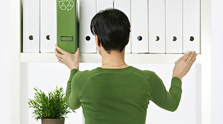environmental conservation, woman working in green office