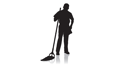 Janitor Silhouette