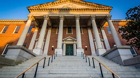 The Maryland State House in downtown Annapolis, Maryland