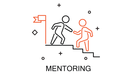 Business mentor help team partner. Creative Idea Concept of Mentor and Coaching
