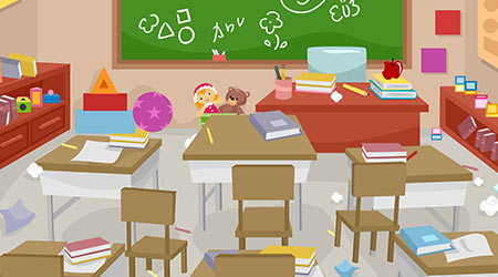 Messy and Disorganized Classroom