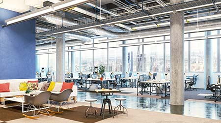 Office workplace. Modern office interior. Office room. Business center