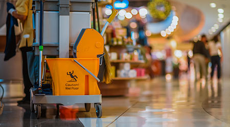 Shopping mall cleaning equipment