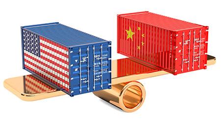 China or USA trade and tariffs balance