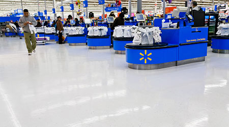 interior of WalMart department store