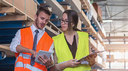 Safety Inspection at commercial warehouse
