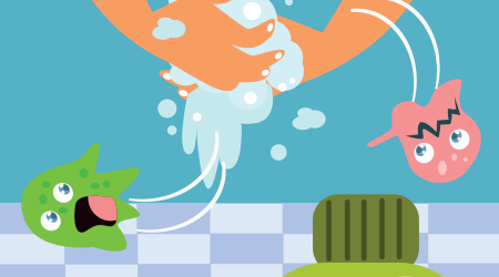 Wash your hand for children campaign poster design