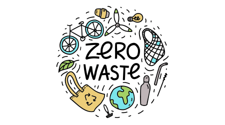 Zero waste. Hand drawn vector illustration