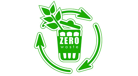 Icon zero waste, sign of recycling, recycling, eco life, eco-friendly garbage. Green sign