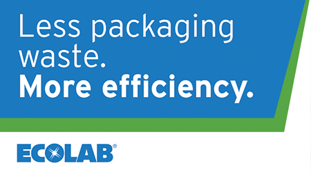 Less packaging waste. More efficiency. Ecolab