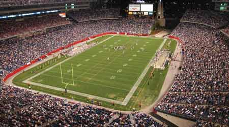 Gillette Stadium where the New England Patriots play