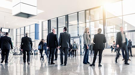 business people crowd for meeting