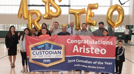 Aristeo Flores Crowned 2019 School Custodian Of The Year