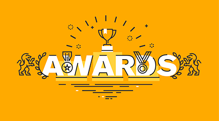 information about awards for the quality of products and services, humanitarian work, success in business