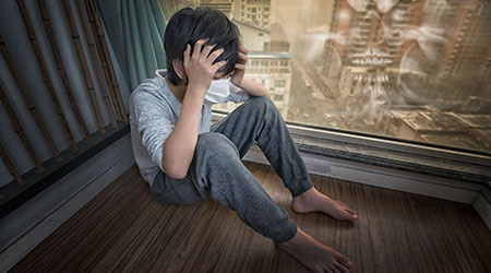 Chinese child headache due to air pollution