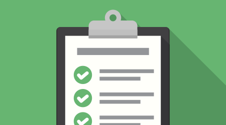 Clipboard with checklist icon. Flat illustration of clipboard with checklist
