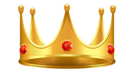 Golden crown with gems