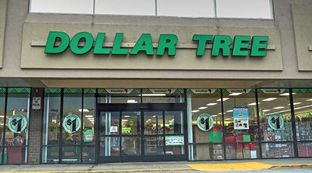 Dollar Tree discount retailer window storefront entrance