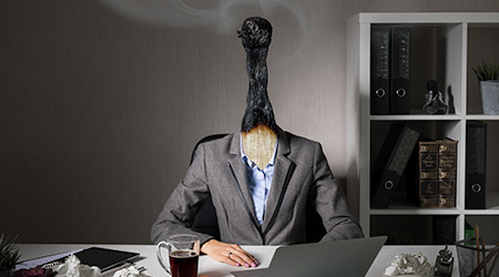 Conceptual photo illustrating burnout syndrome at work