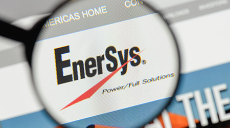 EnerSys logo on the website homepage