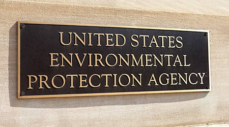 Plaque outside the United States Environmental Protection Agency