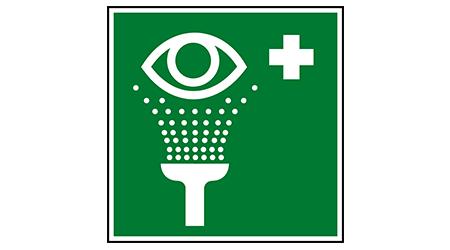 Eyewash station safety sign